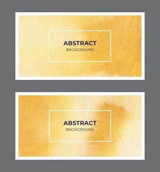 Colección de fondo de banner web acuarela amarilla