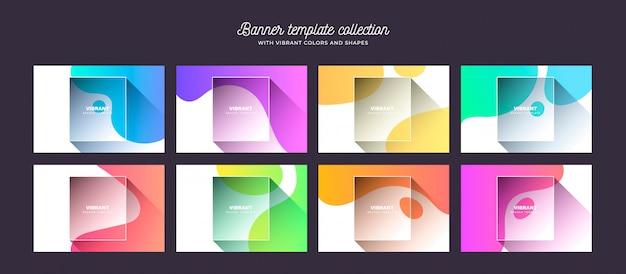 Colección de fondo con colores vibrantes y formas
