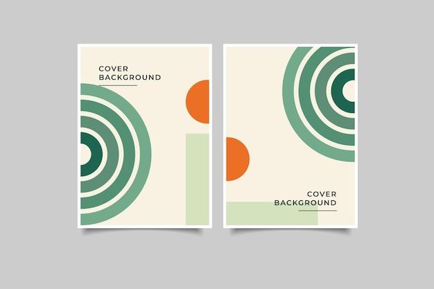 Colección de fondo de cubierta geométrica