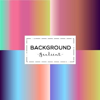 Colección de fondo de degradados de colores vibrantes