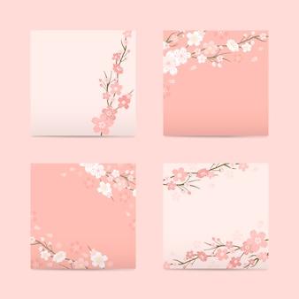 Colección de fondo de flor de cerezo