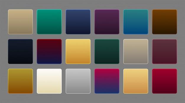 Colección de fondo de gradiente de lujo premium