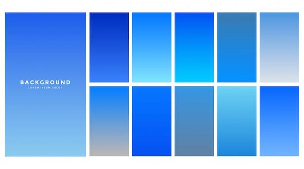 Colección de fondo de gradientes de cielo azul