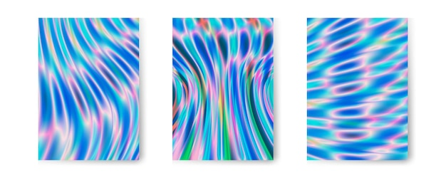 Colección de fondo holográfico iridiscente