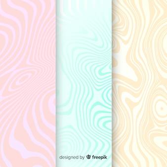 Colección de fondo de mármol colorido
