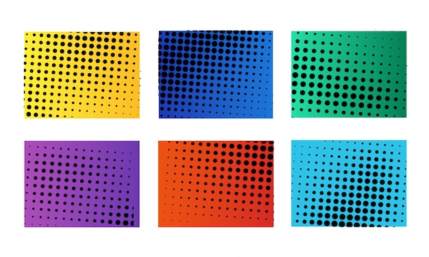 Colección de fondo de semitono abstracto