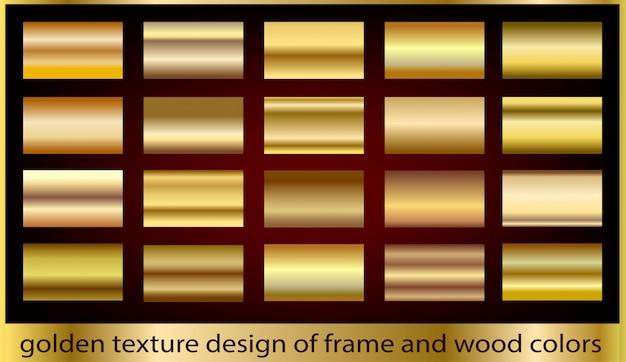 Colección de fondo de textura de metal dorado