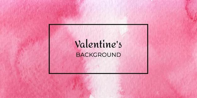 Colección de fondo web acuarela de san valentín rojo