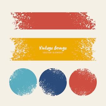 Colección de fondos angustiados grunge vintage