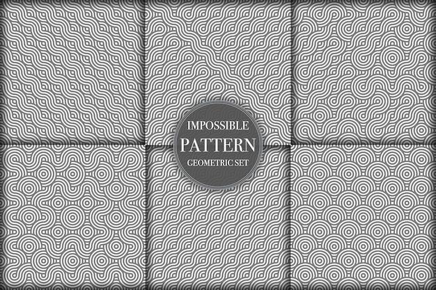 Colección de fondos creativos de patrones geométricos