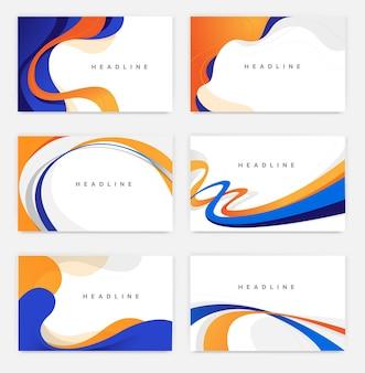 Colección de fondos de estilo minimalista simple con líneas y curvas