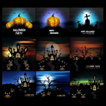 Colección de fondos de halloween