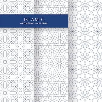 Colección de fondos de patrones marroquíes geométricos árabe islámico transparente