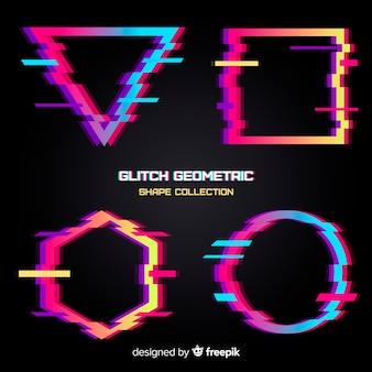 Colección de formas geométricas con distorsión