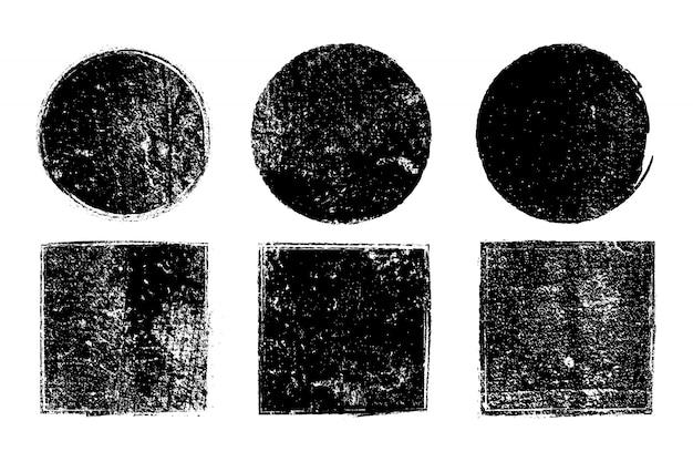 Colección de formas geométricas sucias