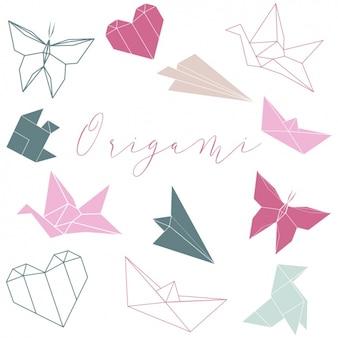 Colección de formas origami