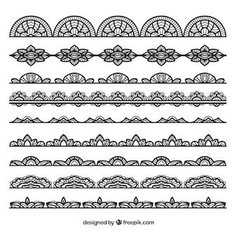 Colección de la frontera del cordón negro