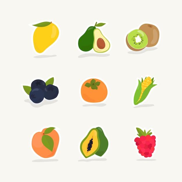 Colección de frutas y bayas