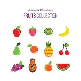 Colección de frutas deliciosas
