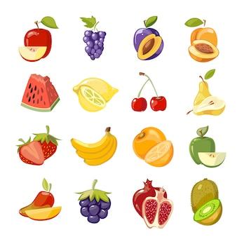 Colección de frutas jugosas