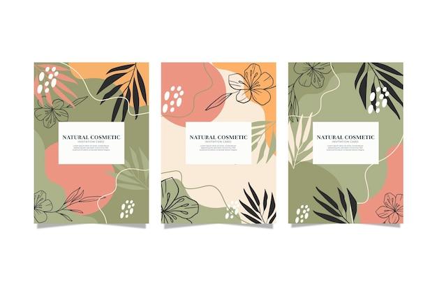 Colección de fundas florales dibujadas a mano vector gratuito