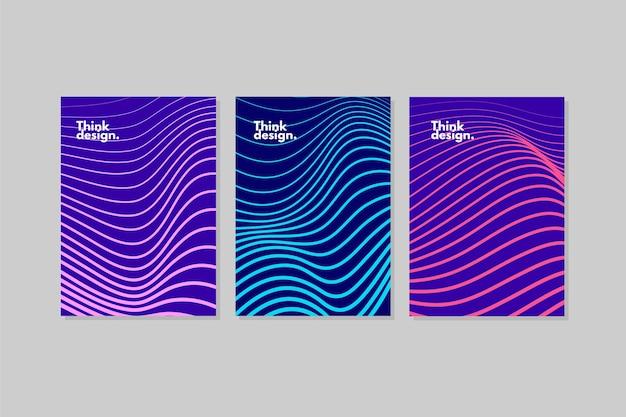 Colección de fundas onduladas abstractas