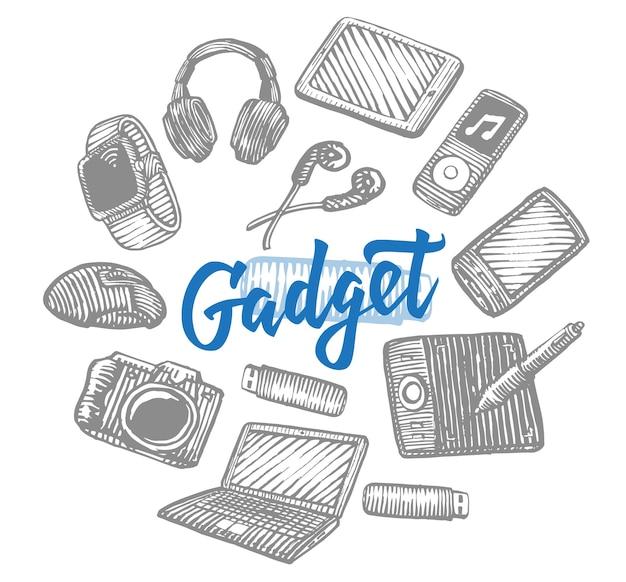 Colección de gadgets electrónicos