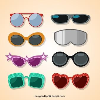 Colección de gafas modernas