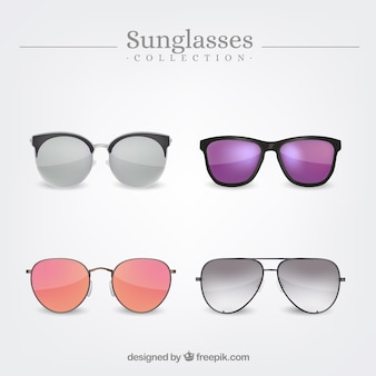 Colección de gafas de sol realistas