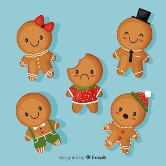 Colección galletas adorables pan de jengibre