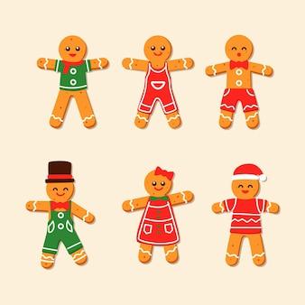 Colección de galletas de hombre de pan de jengibre