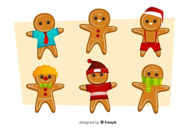 Colección de galletas navideñas de hombre de jengibre