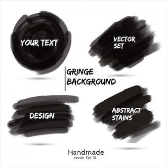 Colección garabato de marcador negro