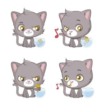 Colección de gatos dulces