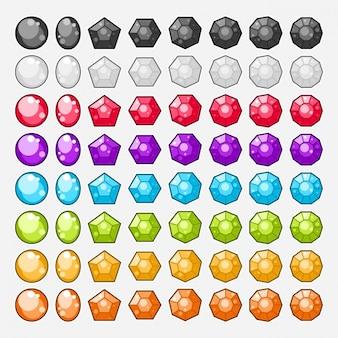 Colección de gemas a color
