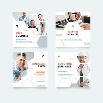 Colección general de publicaciones de instagram de negocios