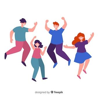 Colección gente bailando dibujada a mano