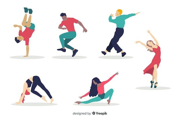 Colección gente bailando
