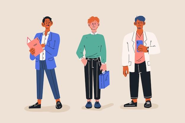 Colección de gente de negocios de dibujos animados