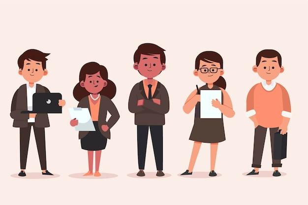 Colección de gente de negocios plana