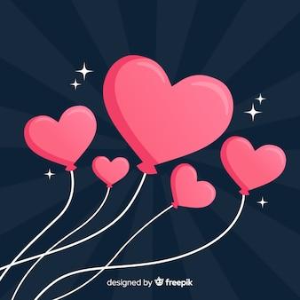 Colección globos de corazones