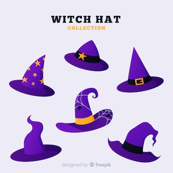 Colección de gorra de bruja de halloween