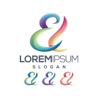 Colección de gradiente de logo de letra el