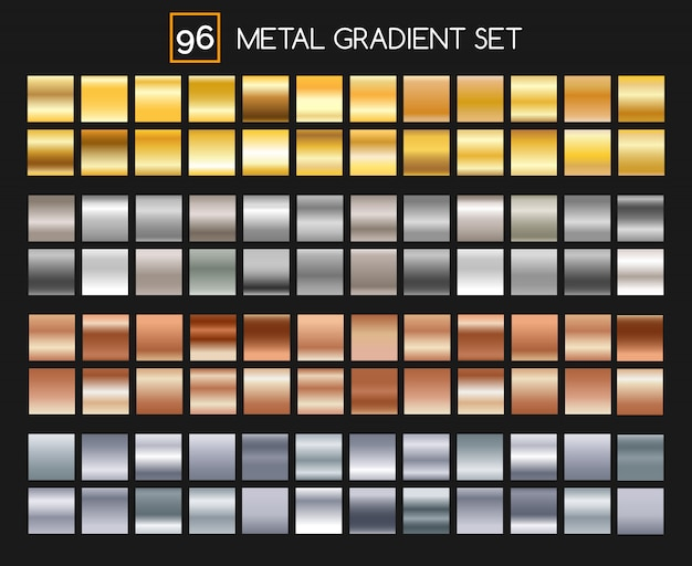 Colección gradiente de metal