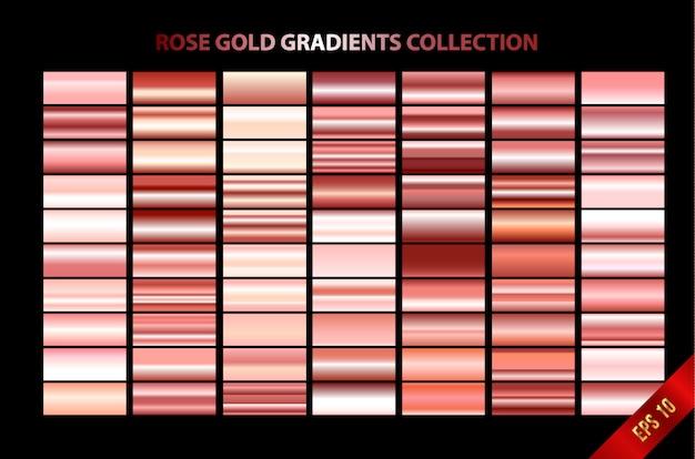 Colección de gradientes de oro rosa.