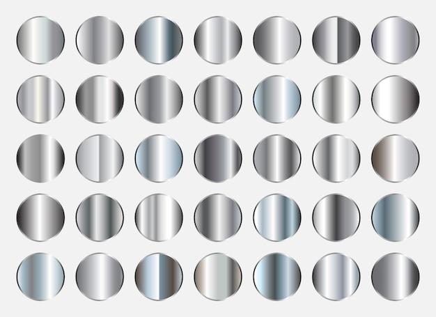 Colección de gradientes de plata