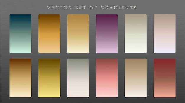 Colección de gradientes vintage premium