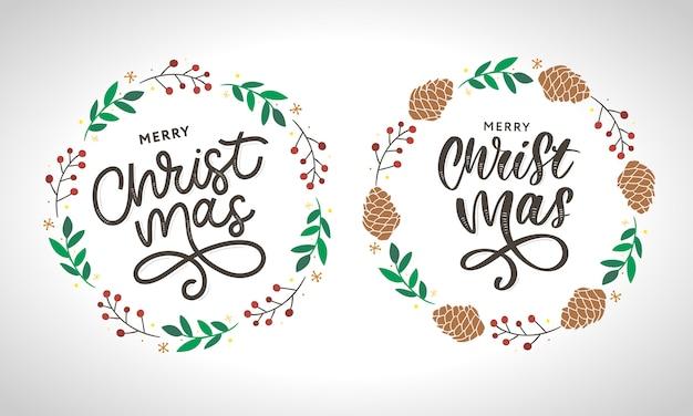 Colección de guirnaldas de feliz navidad