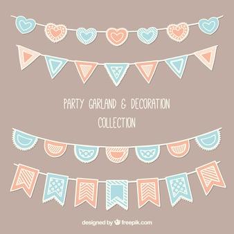 Colección de guirnaldas de fiesta en estilo vintage