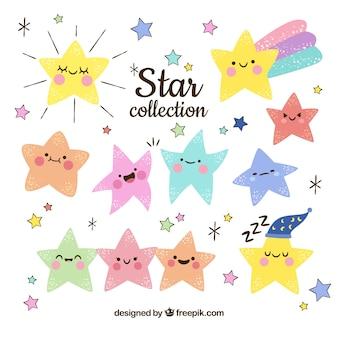 Colección hecha a mano de estrellas